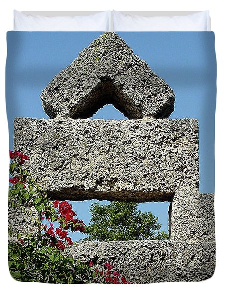 Coral Castle For Love Duvet Cover by Shirley Heyn