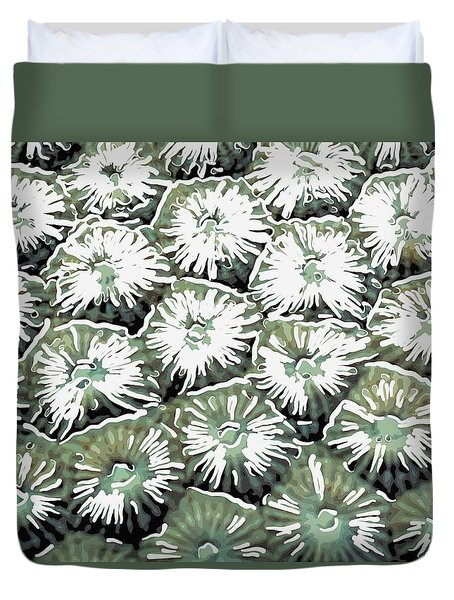 Coral Close Up  Duvet Cover by Lanjee Chee