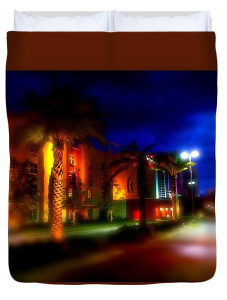 Duvet Cover featuring the photograph Coral Color Florida by Iconic Images Art Gallery David Pucciarelli