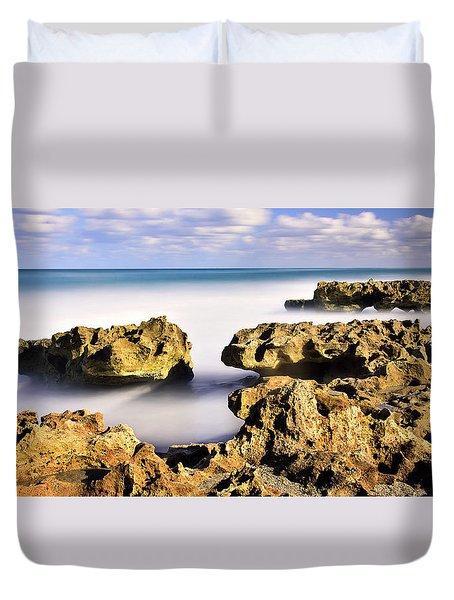 Coral Cove Seascape Duvet Cover