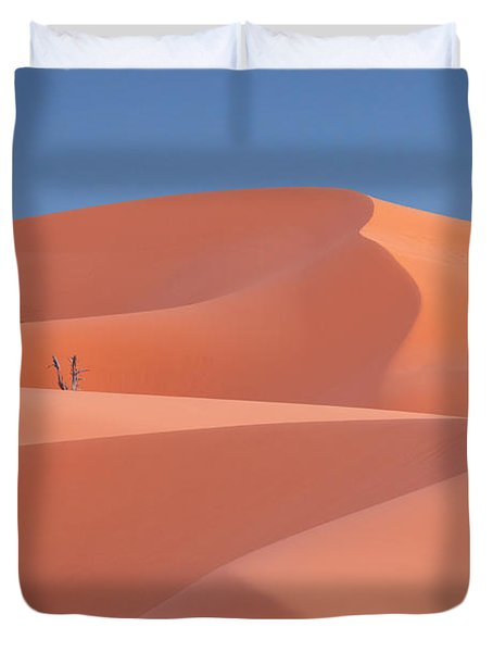 Duvet Cover featuring the photograph Coral by Dustin LeFevre