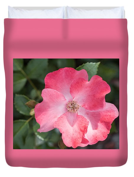 Coral Knockout Rose Duvet Cover