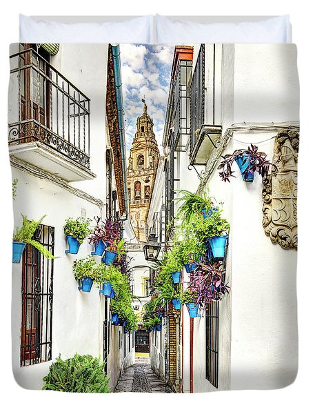 Cordoba Flower Street Wide Duvet Cover