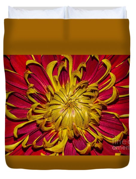Core Of The Flower Duvet Cover