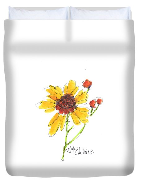 Coreopsis By Kathleen Mcelwaine Duvet Cover