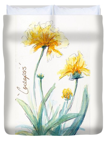 Coreopsis Duvet Cover by CheyAnne Sexton