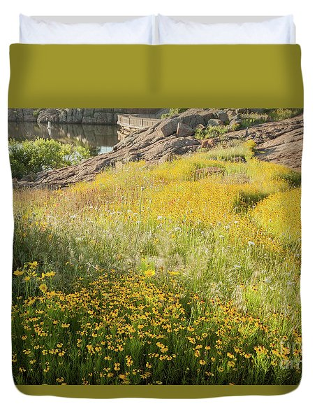 Corepsis Field Of Dreams Duvet Cover by Iris Greenwell