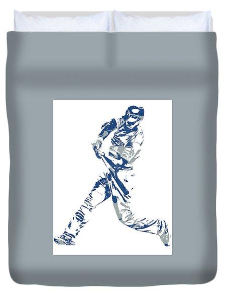 Corey Seager Los Angeles Dodgers Pixel Art 10 Duvet Cover