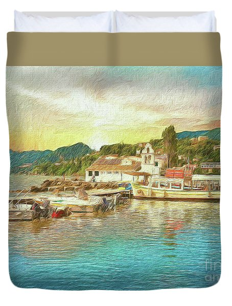 Corfu 30 My Passion Paintography Duvet Cover