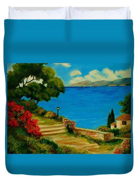 Corfu-greece Duvet Cover