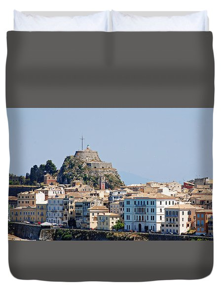 Duvet Cover featuring the photograph Corfu Old Fortress by Robert Moss