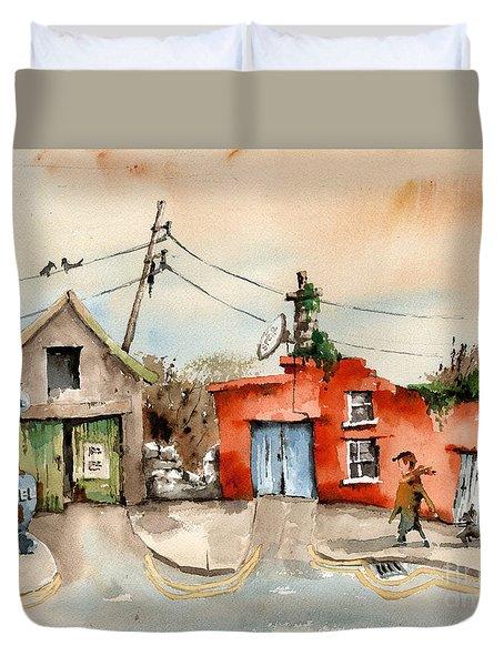 Cork.. Eyeries Shell Gasoline Duvet Cover