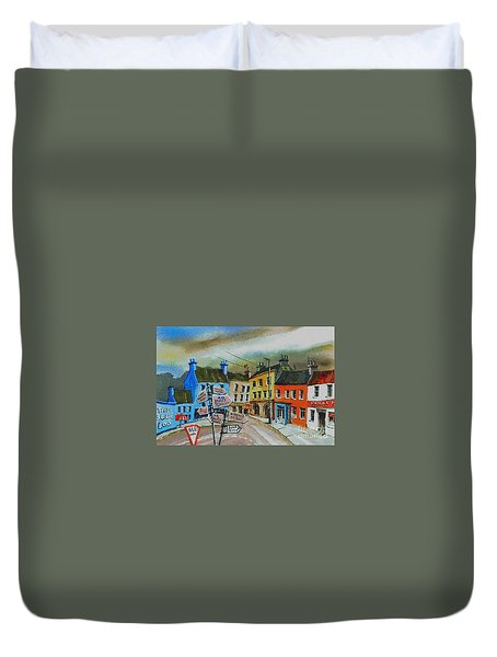 Cork... Glengarriff Signposts Duvet Cover