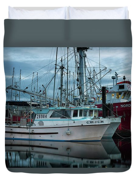 Duvet Cover featuring the photograph Cork To Cork by Randy Hall