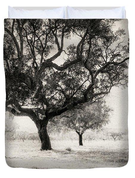Cork Trees Duvet Cover