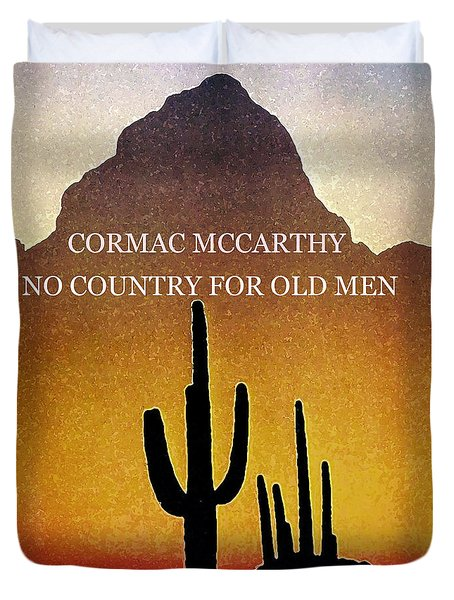 Cormac Mccarthy Poster  Duvet Cover