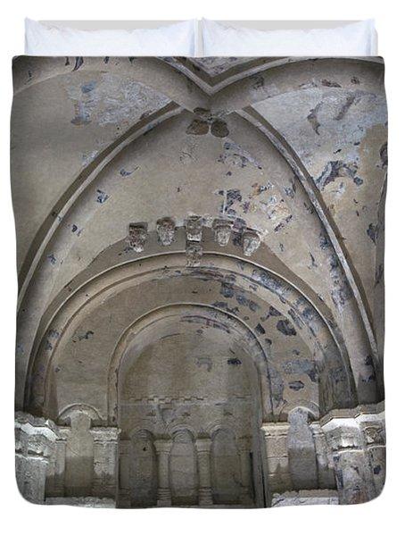 Cormac's Chapel At Rock Of Cashel Duvet Cover