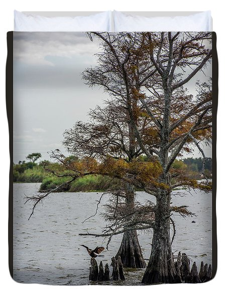 Duvet Cover featuring the photograph Cormorant by Paul Freidlund