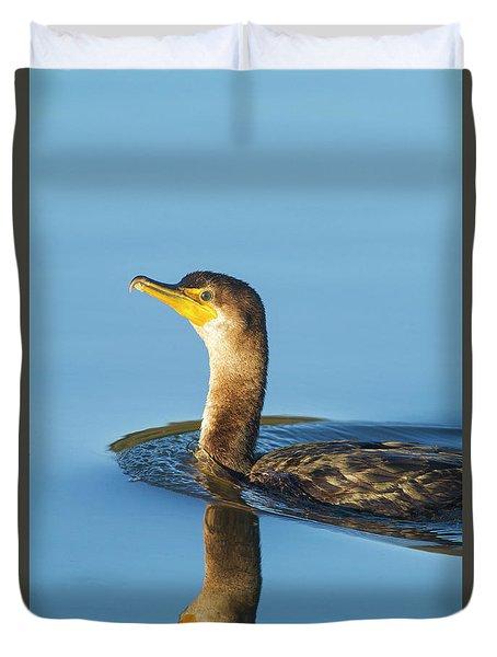 Cormorant Reflection Duvet Cover