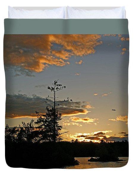 Duvet Cover featuring the photograph Cormorant Tree by Lynda Lehmann