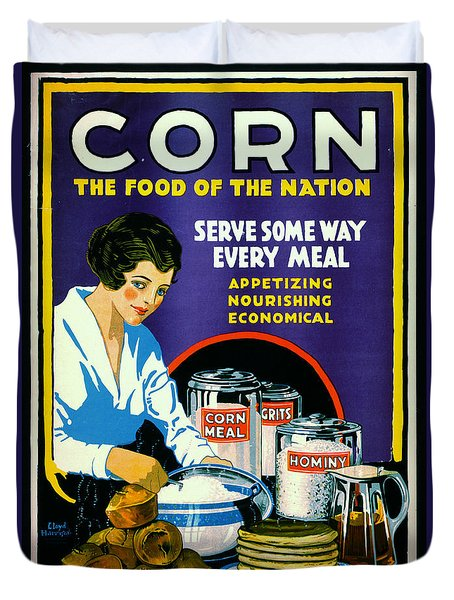 Corn 1918 Duvet Cover by Padre Art
