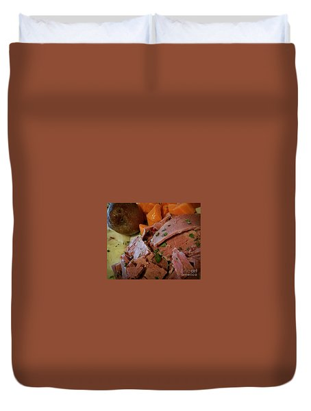 Corn Beef Duvet Cover