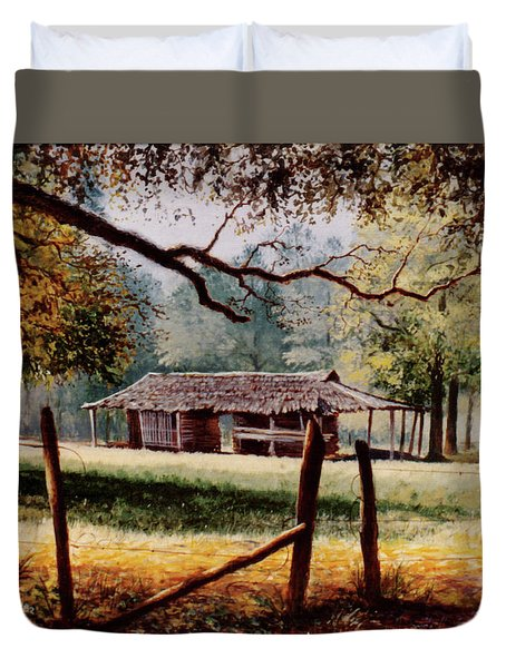 Corn Crib Duvet Cover