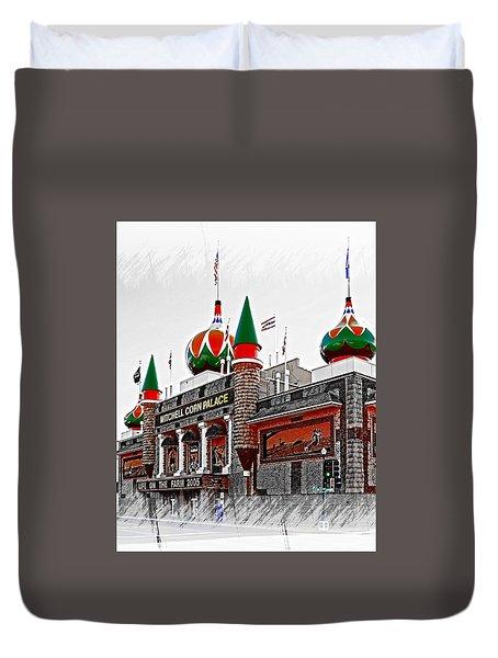 Corn Palace South Dakota Duvet Cover
