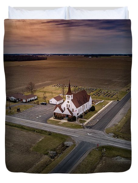 Corner Church Duvet Cover