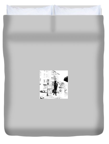 Corner Of Clay And Taylor Duvet Cover by Kurt Ramschissel