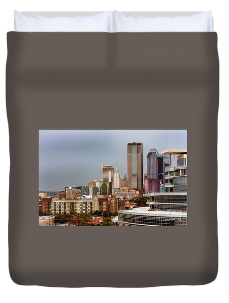 Corner Of Downtown Dallas Duvet Cover