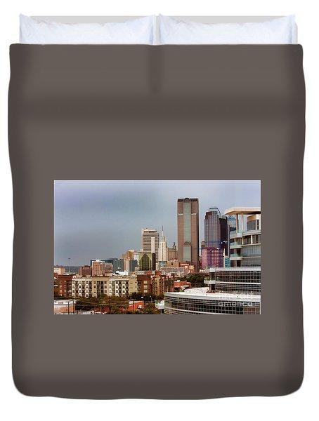 Corner Of Downtown Dallas Duvet Cover