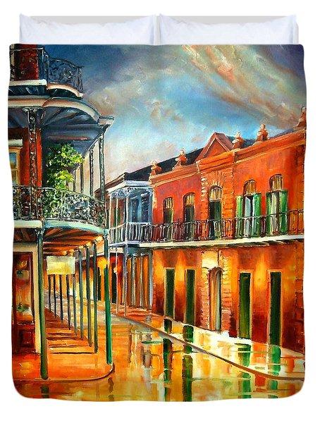 Corner Of Jackson Square Duvet Cover by Diane Millsap