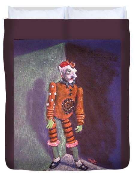 Cornered Marionette Strings Not Included Duvet Cover by Dennis Tawes