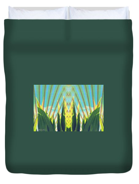 Cornfield At Sunrise Duvet Cover