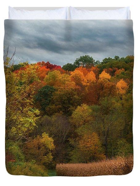 Cornfield In Fall  Duvet Cover