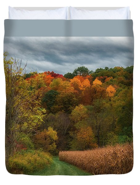 Cornfield In Fall  Duvet Cover