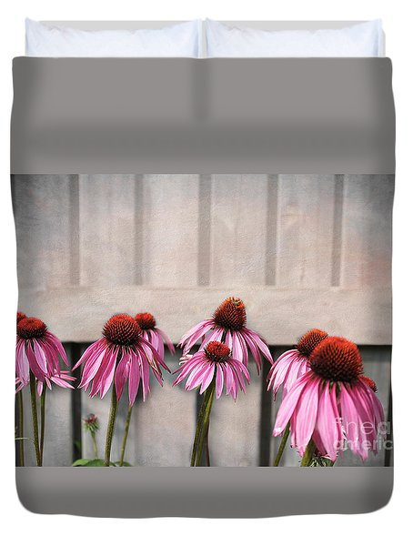 Coneflower Couples Duvet Cover by Nina Silver