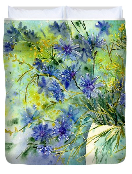 Cornflowers Symphony Duvet Cover