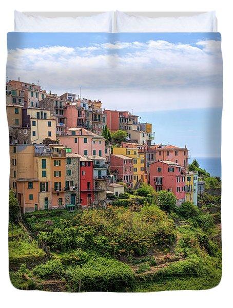 Corniglia Cinque Terre Italy Duvet Cover