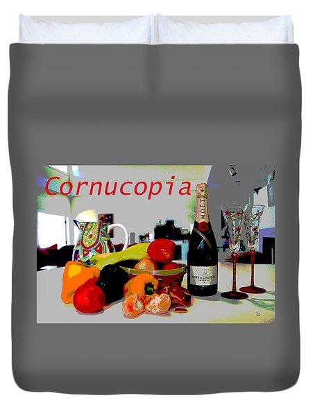 Cornucopia Duvet Cover by Charles Shoup