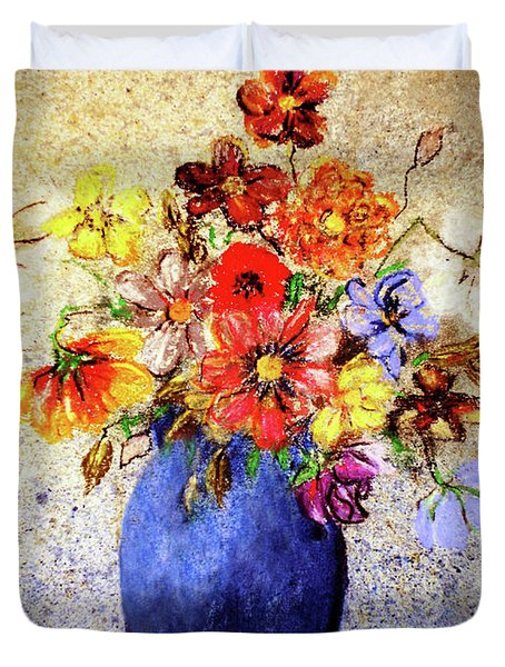 Cornucopia-still Life Painting By V.kelly Duvet Cover