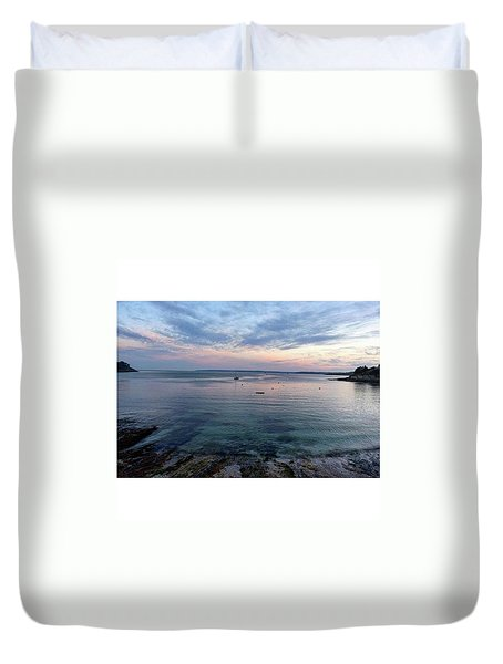 St Mawes Sunset Duvet Cover