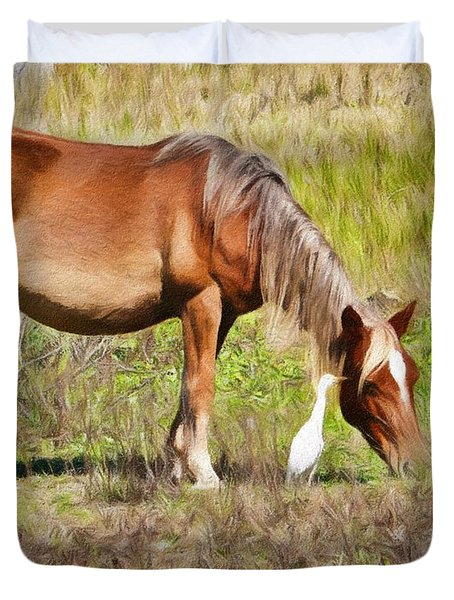 Corolla's Wild Horses Duvet Cover