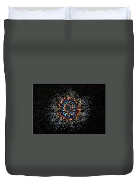 Duvet Cover featuring the photograph Corona by Mark Fuller