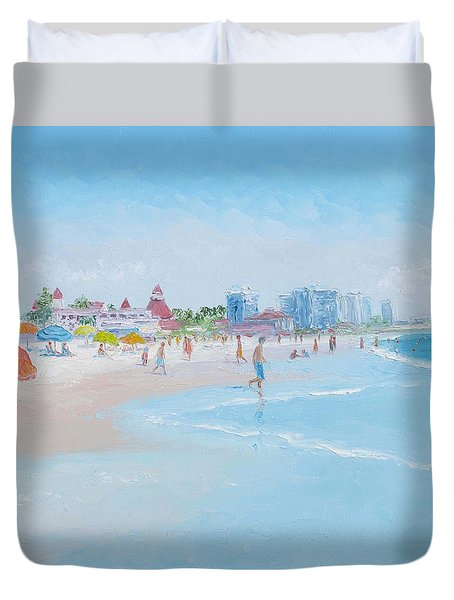 Coronado Beach San Diego Duvet Cover