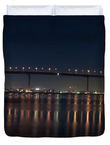 Coronado Bridge San Diego Duvet Cover