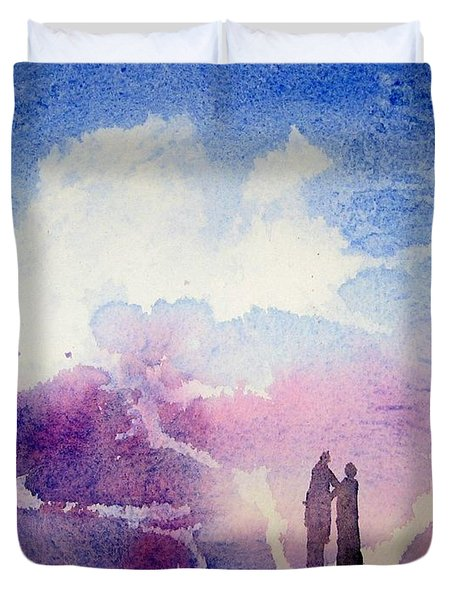 Coronado Island Wedding Duvet Cover