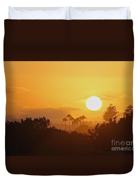 Duvet Cover featuring the photograph Coronado Sunset by Suzanne Oesterling
