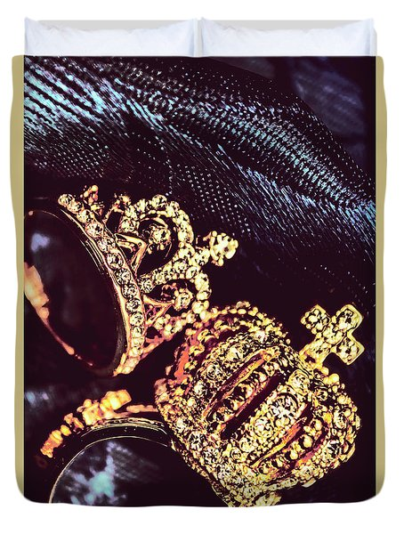 Coronation Of Jewels Duvet Cover